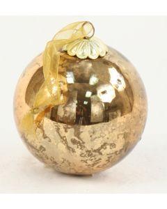 80mm Glass Ball Ornament Antique Bronze