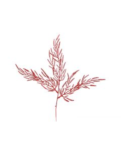 "18"" Red Glittered Cypress Spray"