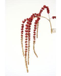"43"" Hanging Burgundy and Gold Glittered Amaranthus Spray"