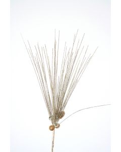 "20"" Glitter Needle Pine Spray with Pine Cones in Tiffany Gold (Sold in Multiples of 12)"
