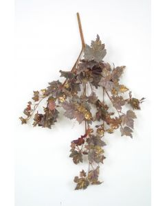 Burgundy Gold Frosted Grape Leaf Vine (Sold in Multiples of 4)
