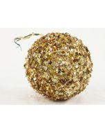 150mm Sequin Ball Ornament Gold