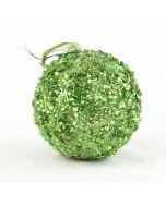 150mm Sequin Ball Ornament Green