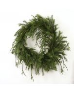 """30"""" Drooping Pine Wreath in Green"""