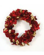 Mixed Flower Wreathpremade Red